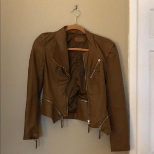 BlankNYC faux leather motto jacket